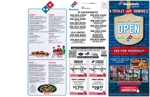 dominos pizza meny