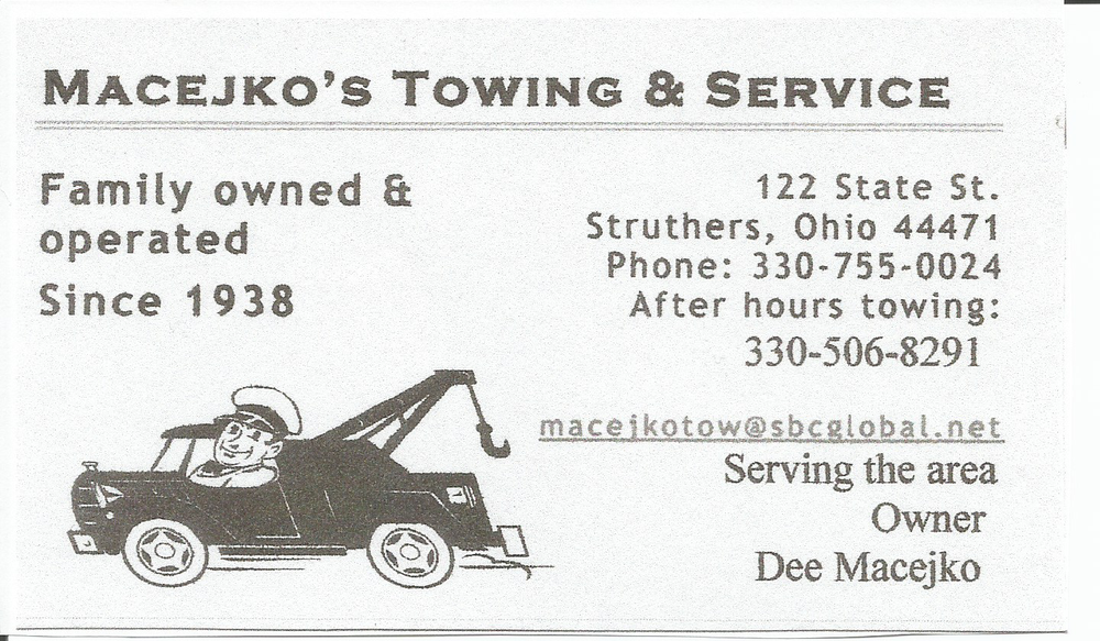 Towing business in Poland (Township), OH