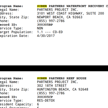 Photo Of Sober Partners Network   Newport Beach, CA, United States. Proof  The