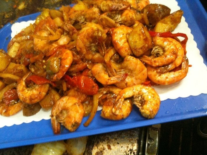Famous shrimp tray yelp for San pedro fish market prices