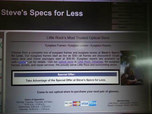 Specs For Less >> Steve S Specs For Less 2920 S University Ave Little Rock Ar