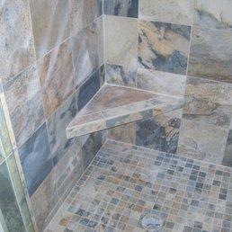Photo Of Tile Craft Traverse City Mi United States Slate Shower Installation