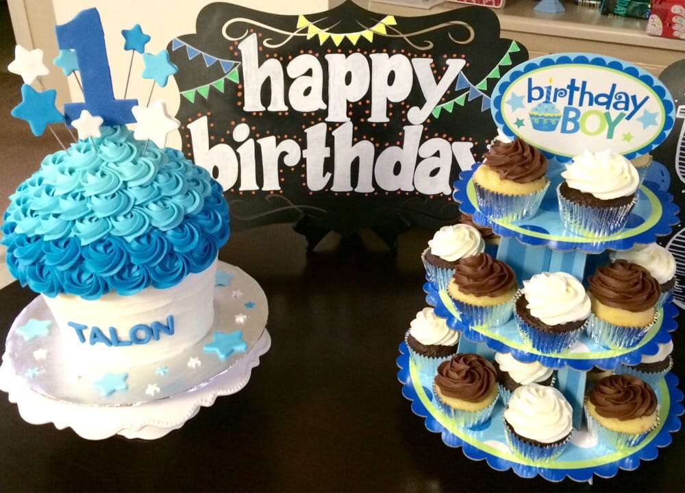Giant Cupcake Smash Cake And 2 Dozen Regular Cupcakes For 1st