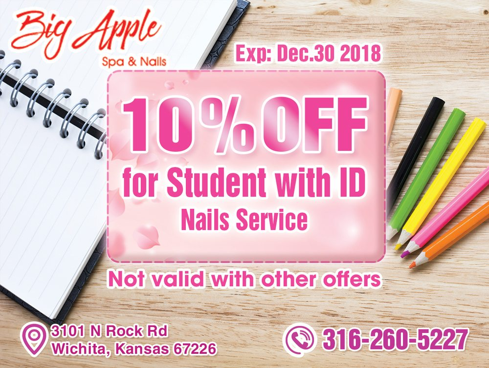 Big Apple Spa & Nails: 3101 N Rock Rd, Wichita, KS