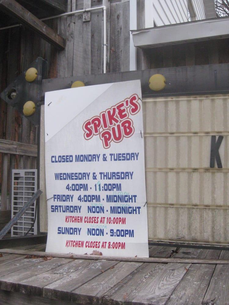 Spike's Pub: 30 Ginter Morann Hwy, Janesville, PA