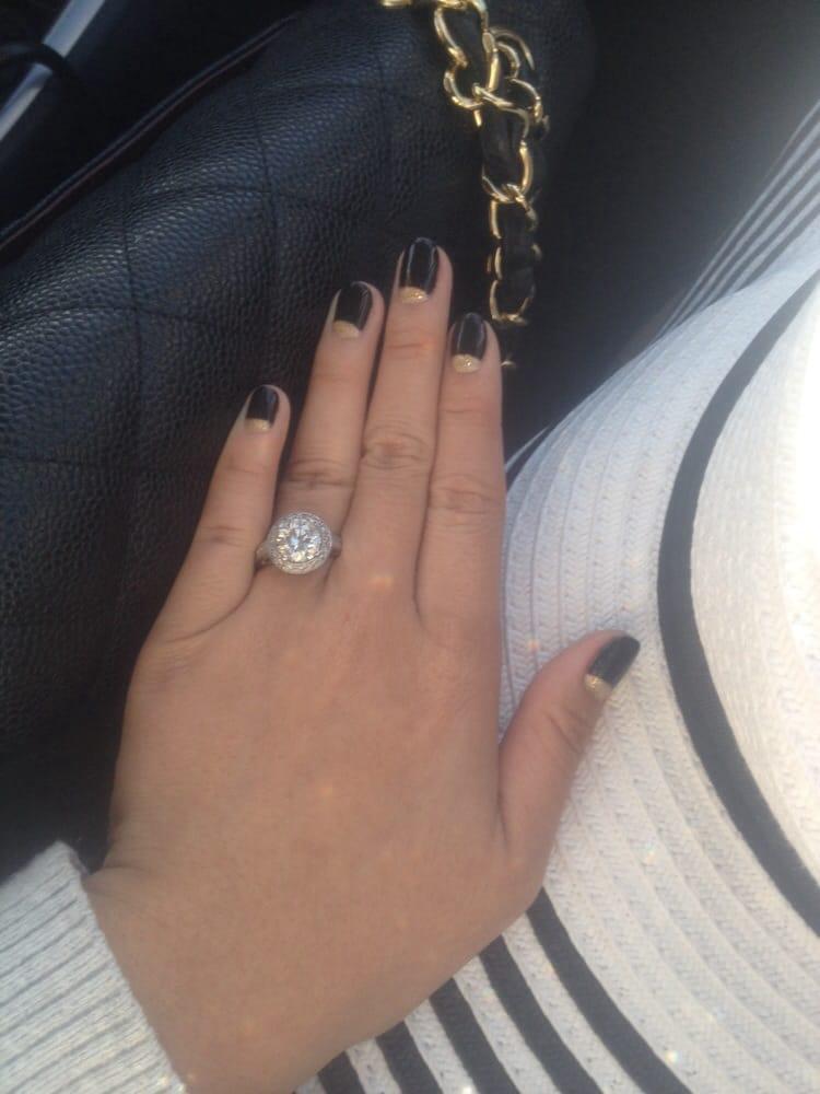 Cute nails. Excuse my short fat hands haha - Yelp