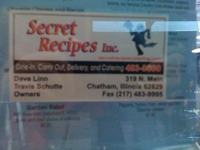 Secret Recipes: 319 N Main St, Chatham, IL