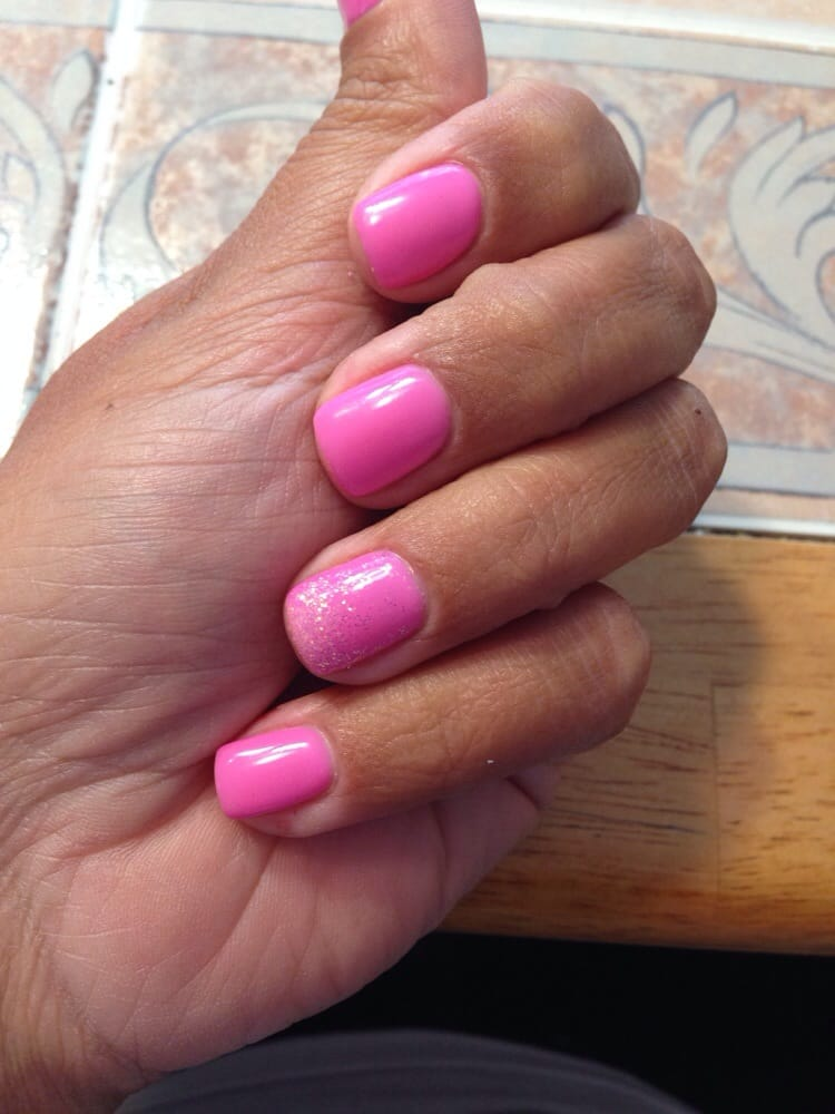 LCN natural nail boost with LCN color gel--and a bit of sparkle! - Yelp