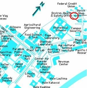 A map of where to find the thrift shop @ UH-Manoa - Yelp Campus Map Uh Manoa on