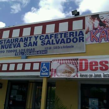 La Nueva San Salvador Restaurant In Miami Fl
