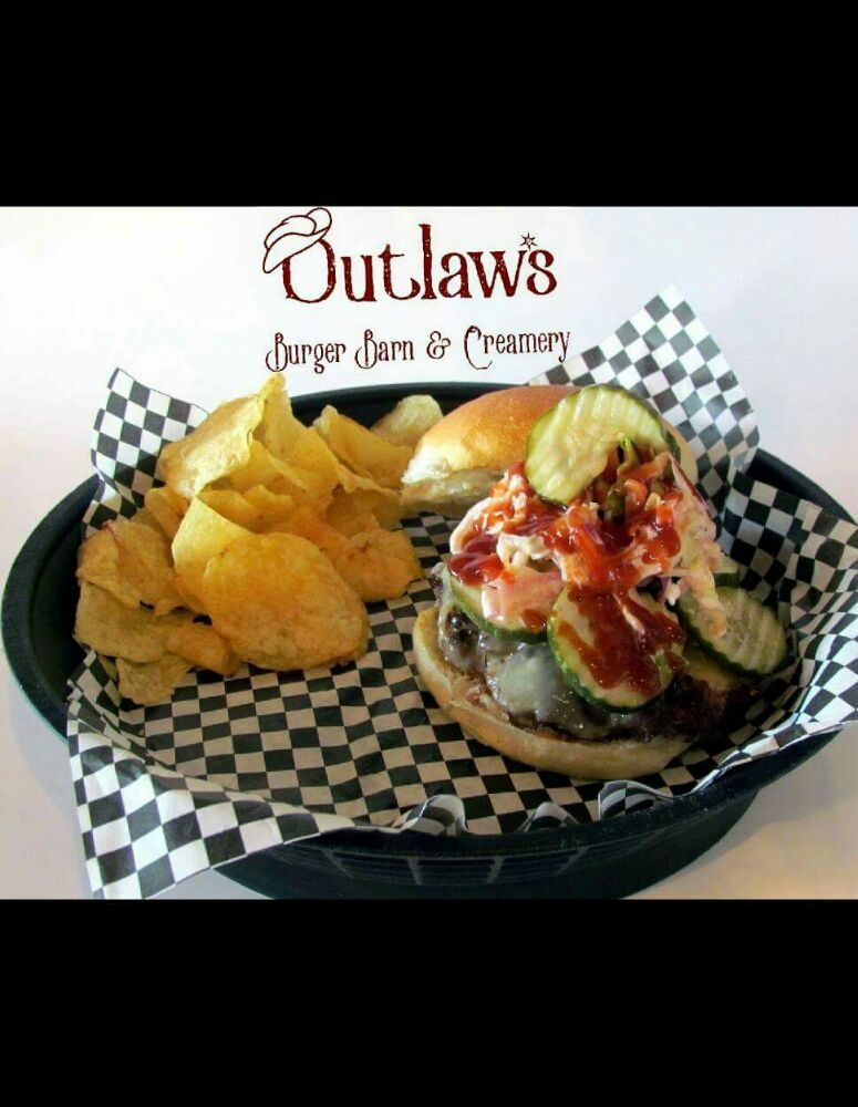 Food from Outlaw's Burger Barn & Creamery