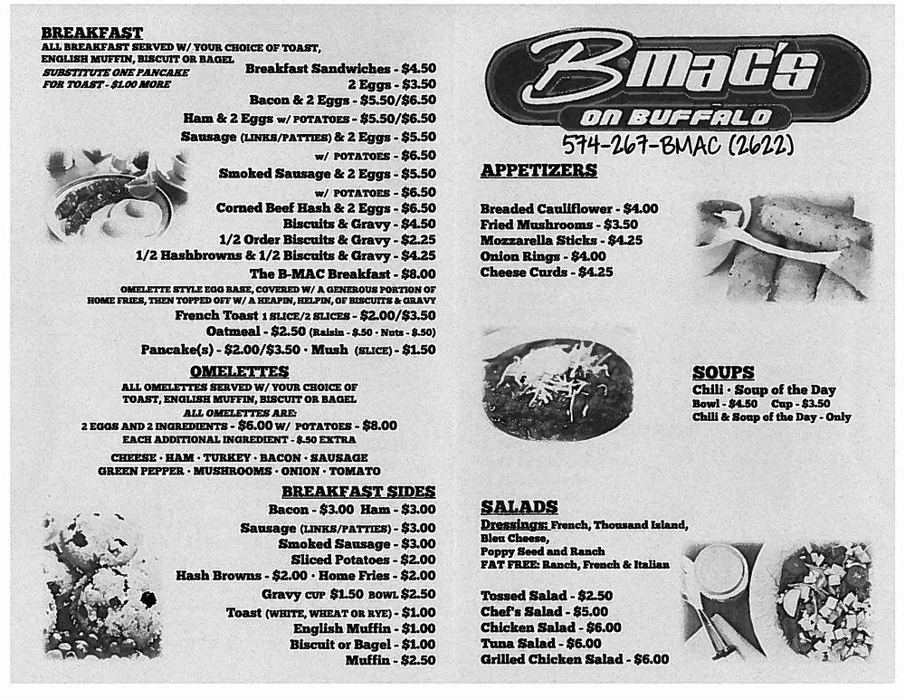 B-MacS On Buffalo: 114 N Buffalo St, Warsaw, IN