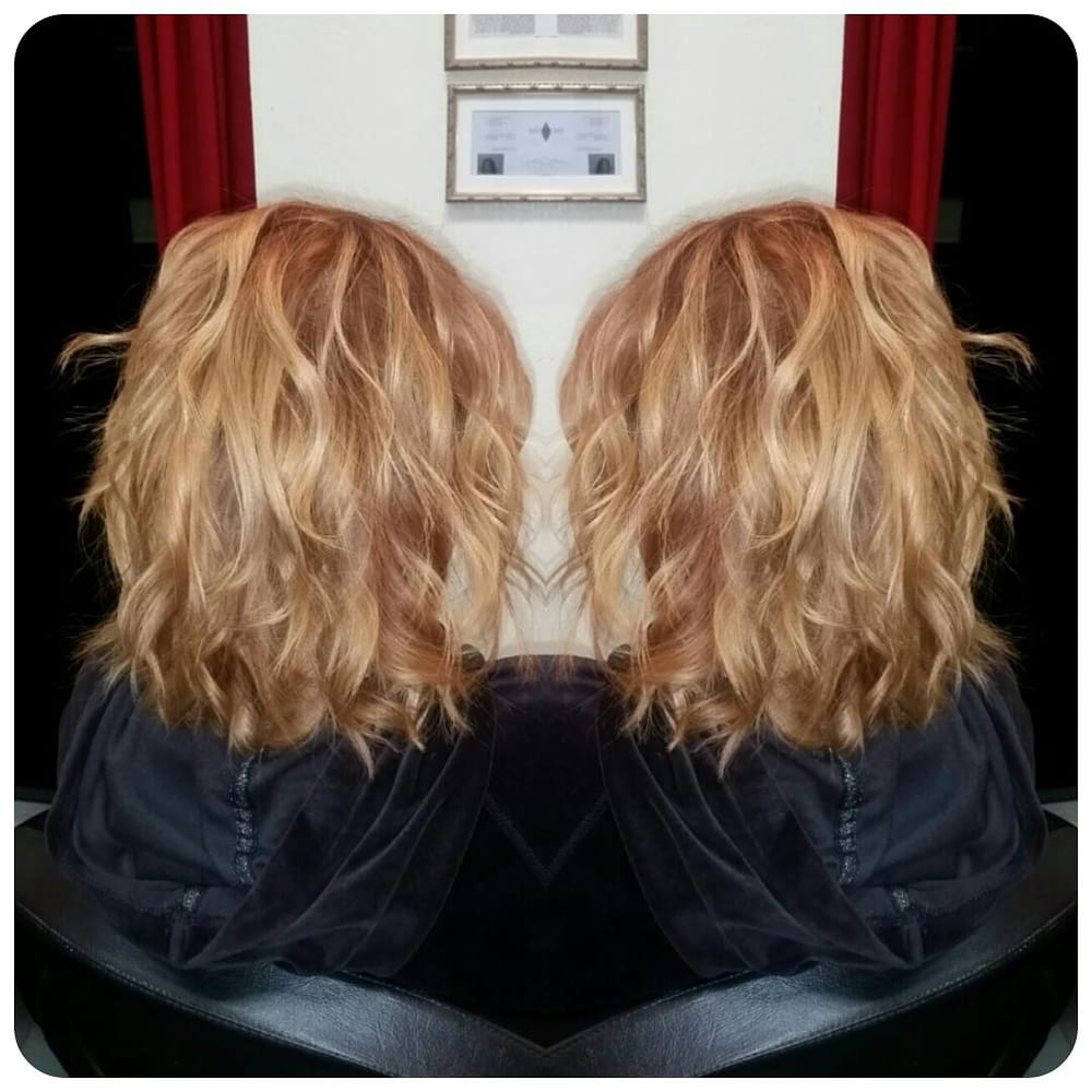 Short Textured Cut And Honey Blonde Color Melt Hair By Amber Yelp