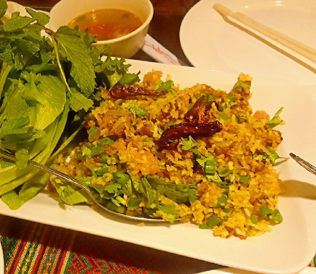 Nem kao 13 signature dish crispy fried rice with fermented pork photo of thai village aiea hi united states nem kao 13 ccuart Images
