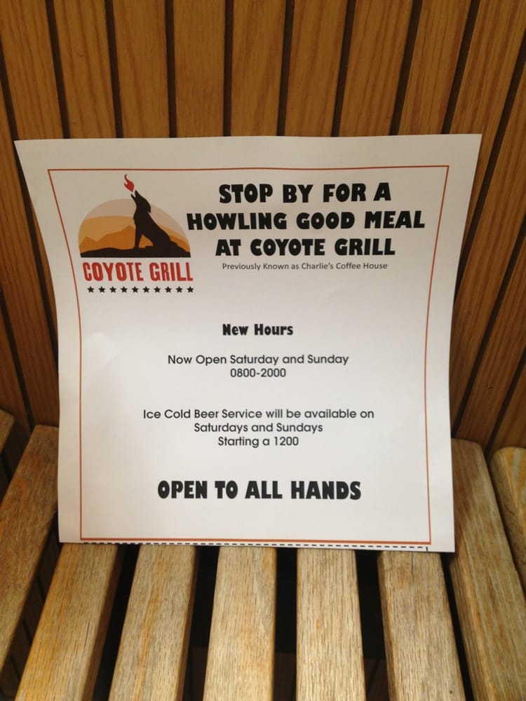 The Coyote Grill: 1655 Griffin Rd, Twentynine Palms, CA