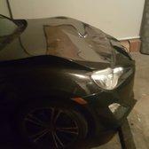 Photo of Erik's Auto Body Shop - Pasadena, CA, United States. Hood damage