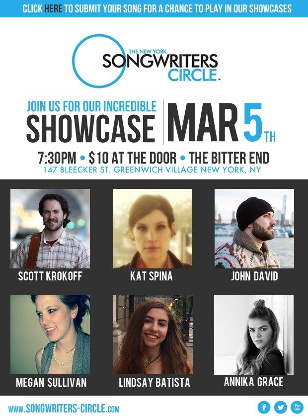 The New York Songwriter's Circle: 147 Bleecker St, New York, NY