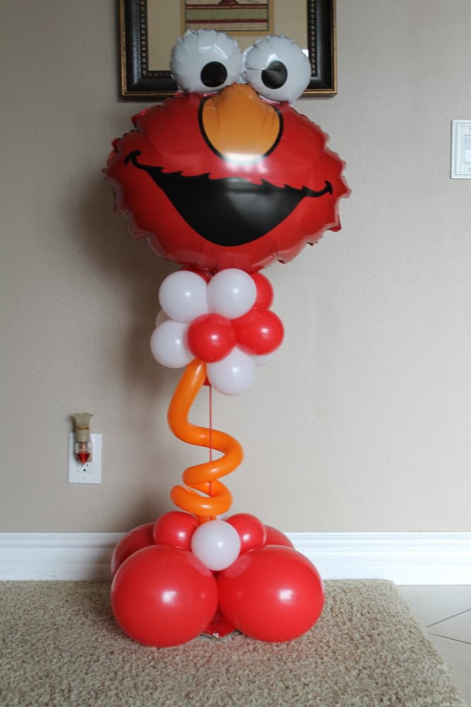 Elmo balloon centerpiece yelp