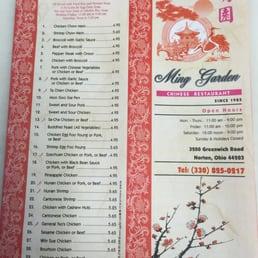 Ming Garden Chinese Restaurant Norton Oh