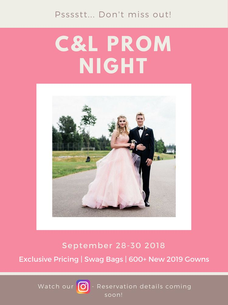 Prom ladies of 2019 ! You do not want to miss this event ! Follow us