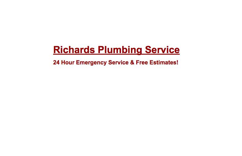 Richards Plumbing Service: Custer, WA