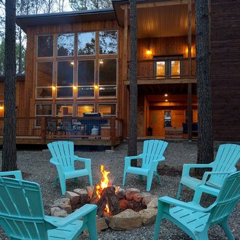 wol white broken cabins main rentals lodge cabin lake oak bow post ok