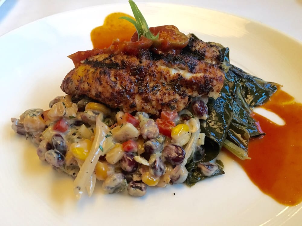 Blackened catfish with collard greens and hominy yelp for Jax fish house kc