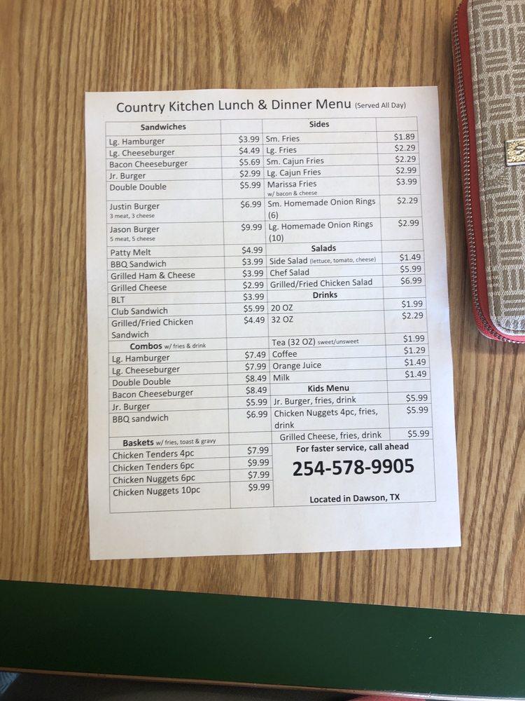 Country Kitchen: 106 Hwy 31 W, Dawson, TX