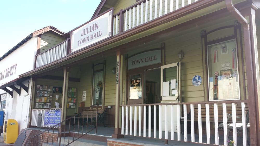 Julian town hall monumenti luoghi storici e d 39 interesse for Noleggio cabina julian dal proprietario