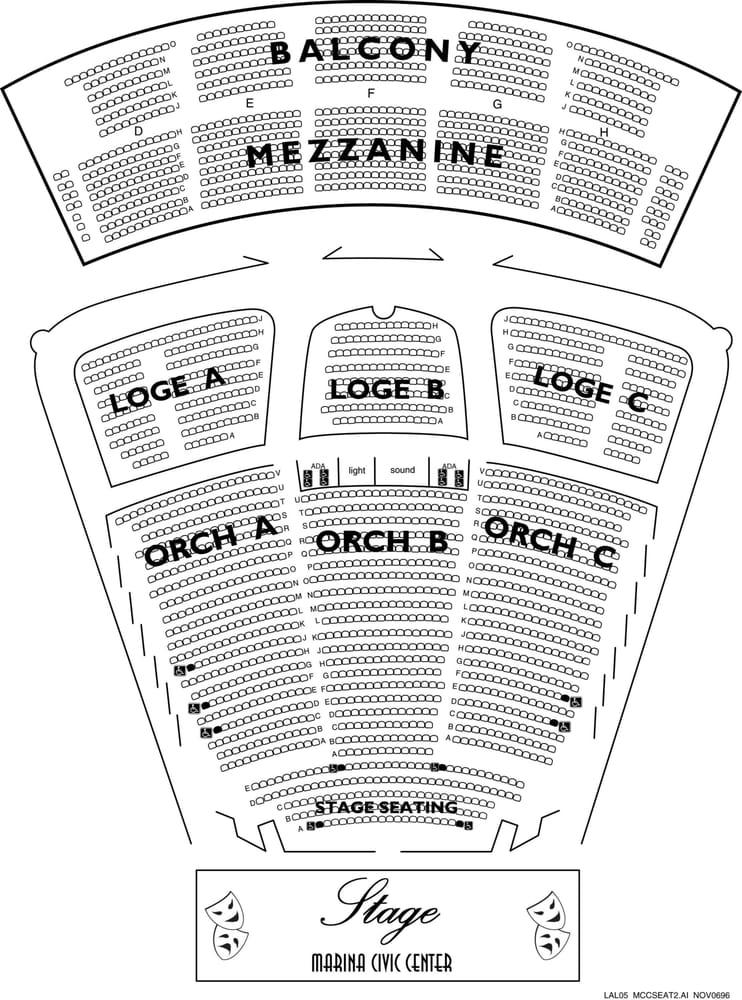 Seating Chart For Marina Civic Center Yelp