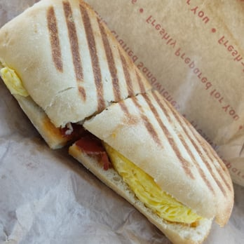 Bagels - Las Vegas, NV, United States. Egg, Spinach, and Bacon Panini ...