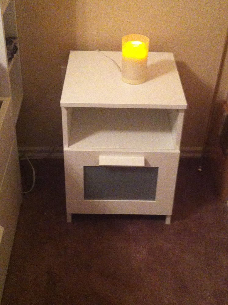 White Brimnes nightstand Yelp