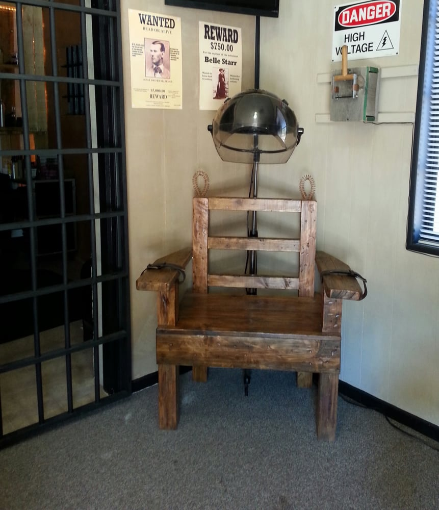 Our Custom Built Electric Chair Hair Dryer Located Just