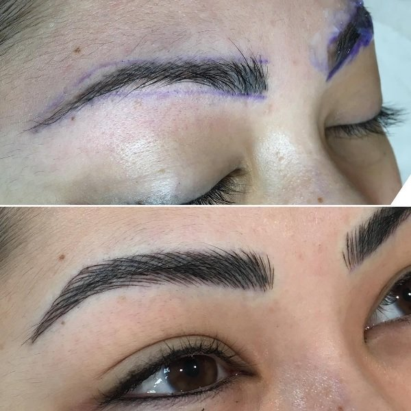 Before On Top And After On The Bottom My Eyebrows Done By Little