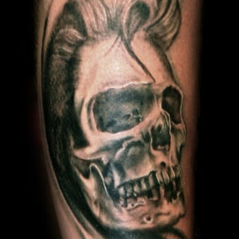 Elvis Skull Tattoo By Mike Klein Yelp