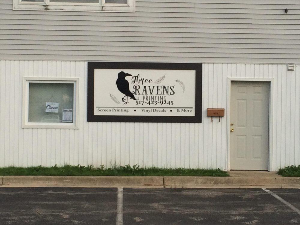 Three Ravens Printing: 112 S Pearl St, Tecumseh, MI