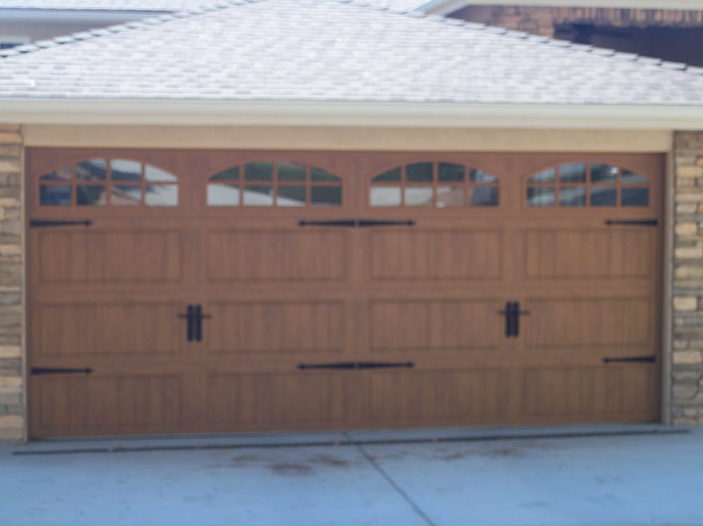 Clopay Garage Door Ultra Grain Medium Oak With Arch