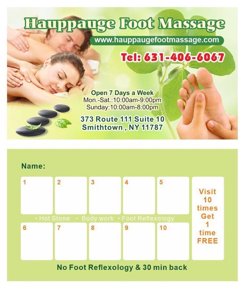 Hauppauge Foot Massage: 373 Rte 111, Smithtown, NY