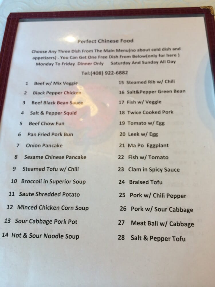 Free Dish From Selected List When You Order  Items From Regular