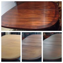 Photo Of Miller Restorations   Haymarket, VA, United States. Dining Table  Through The