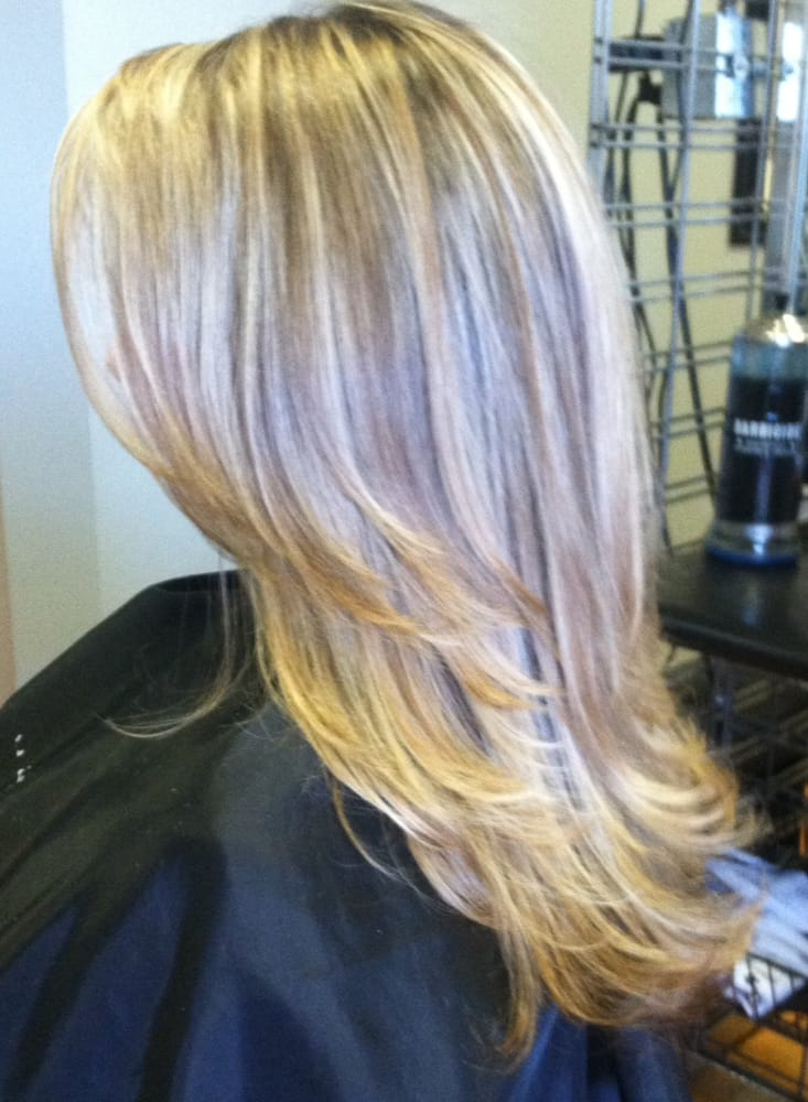 Long Layered Cut With Blonde Highlight And Lowlight By Dante Yelp