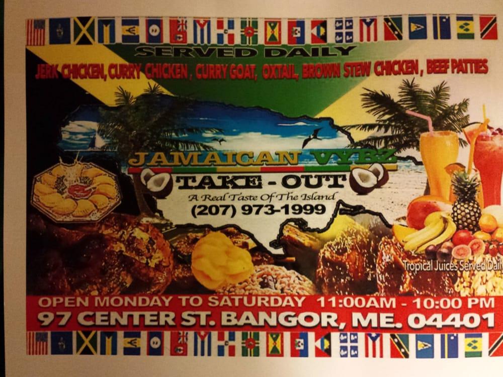 Jamaican Vybz Take-Out Restaurant: 97 Center St, Bangor, ME