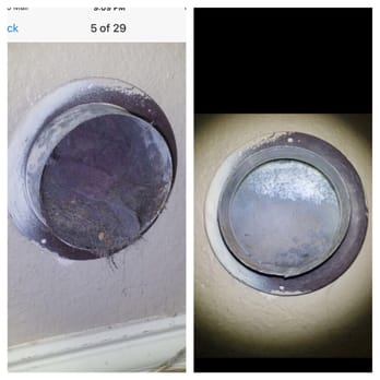 photo of homesafe dryer vent cleaning arlington tx united states before left