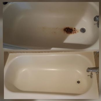 bath resurface bathafter resurfacing htm bathresurfacing tub before after reglazing