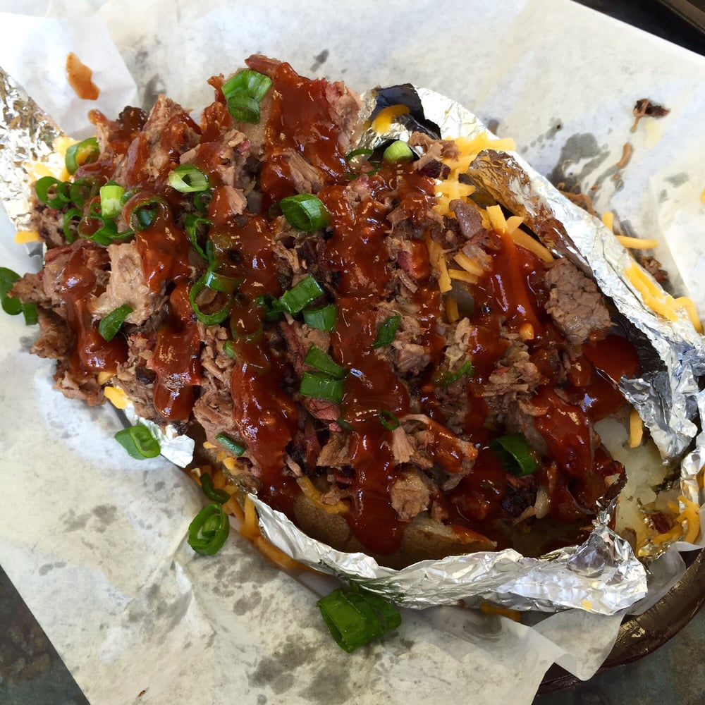 Chopped Beef Loaded Baked Potato It S So Yummy Yelp
