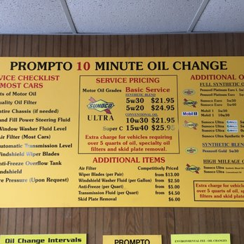 Oil Change Prices Near Me >> Prompto 10 Minute Oil Change 13 Photos 21 Reviews Oil Change