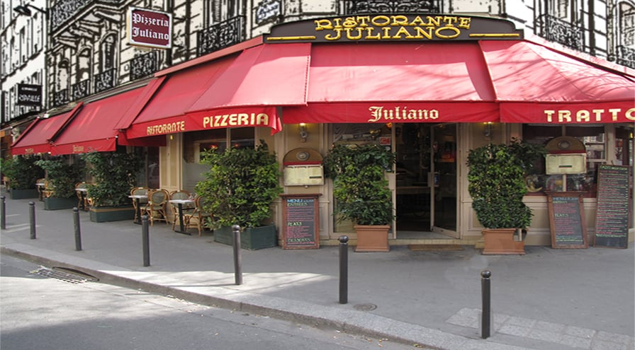 Pizzeria juliano restaurants 18 rue boursault for Restaurant miroir paris 18