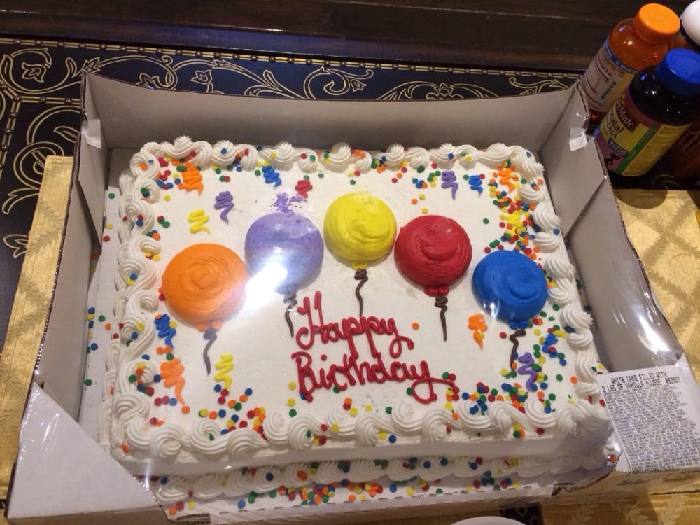 1799 Birthday Sheet Cake Decent Vanilla Custard And Vanilla Cake
