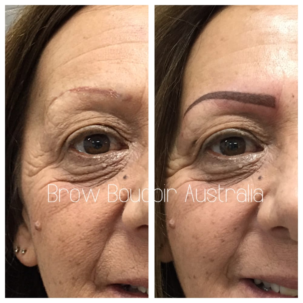 Soft powder eyebrow tattoo (colour will soften once healed) - Yelp