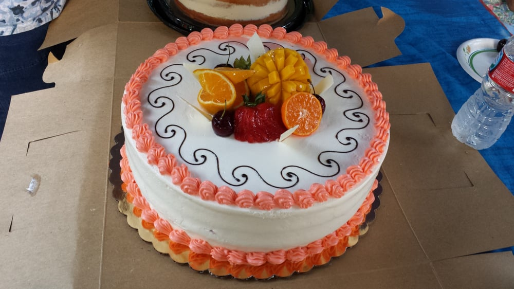 Our Lemon Cake With Strawberry Filling Butter Cream Frosting And